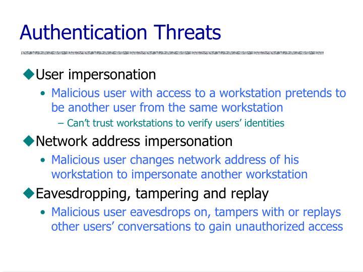 Authentication Threats