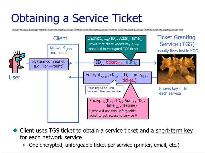 Obtaining a Service Ticket