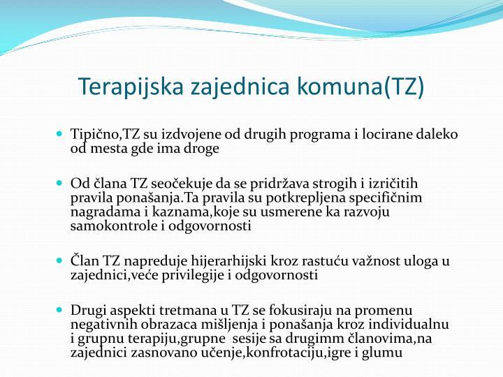 Terapijska zajednica komuna(TZ)