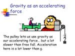 gravity as an accelerating force2