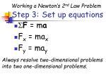step 3 set up equations