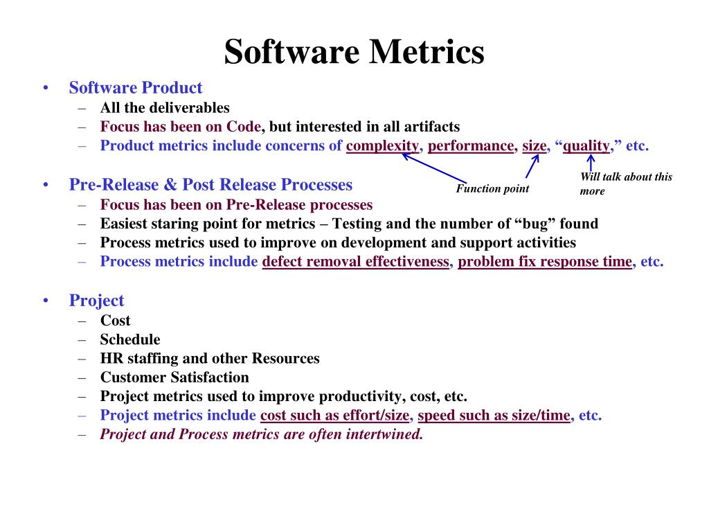 PPT - Software Metrics/Quality Metrics PowerPoint ...