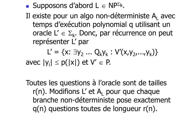 Supposons d'abord L
