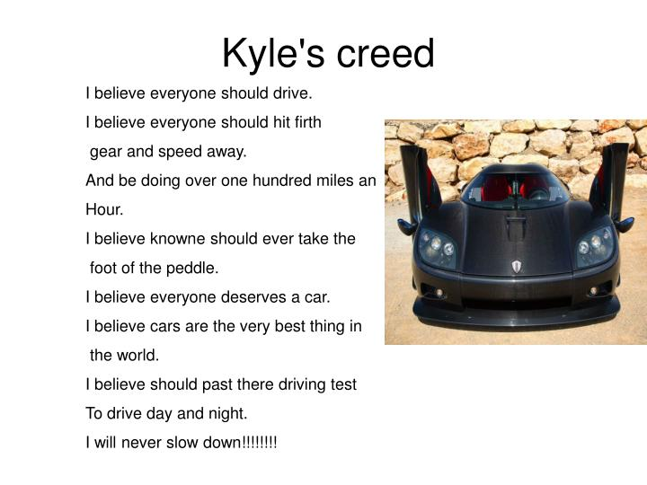 Kyle s creed