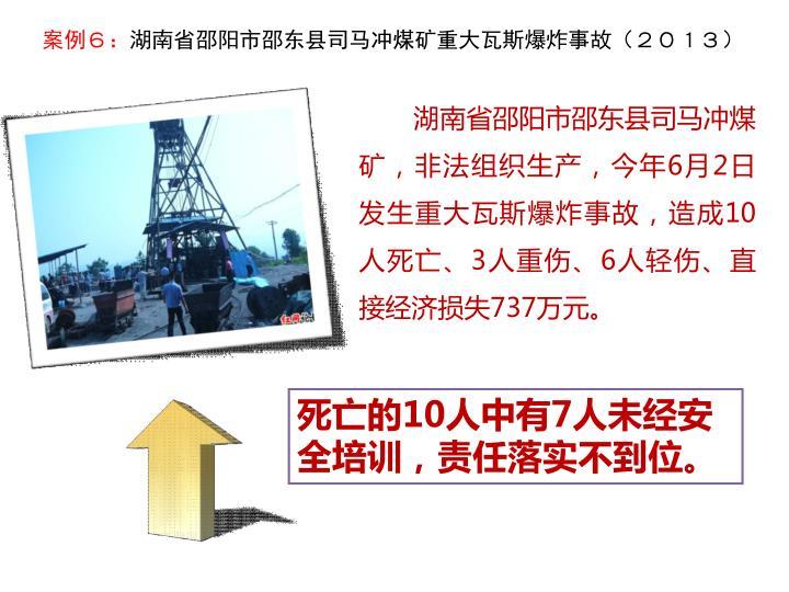 湖南省邵阳市邵东县司马冲煤矿,非法组织生产,今年