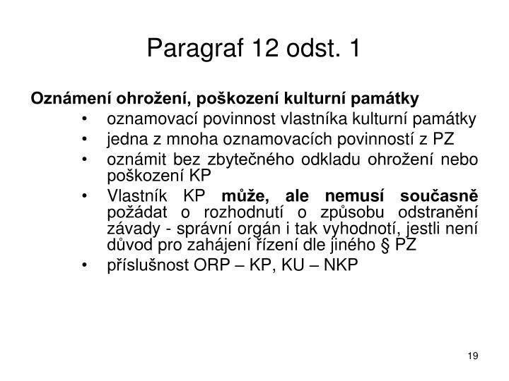 Paragraf 12 odst. 1