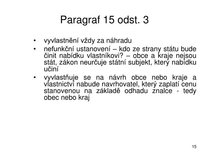 Paragraf 15 odst. 3