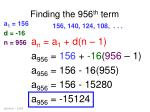 finding the 956 th term