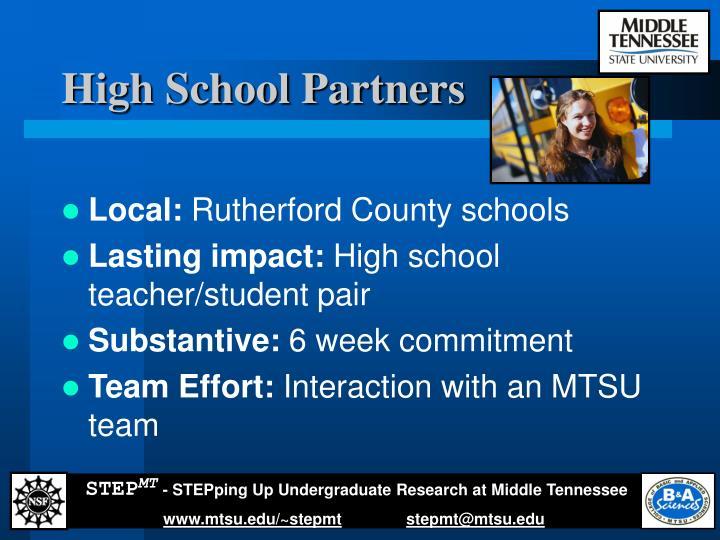 High School Partners