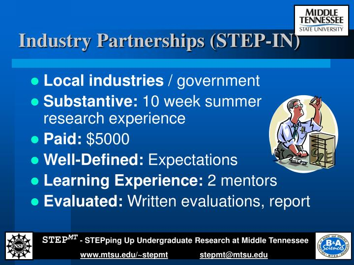 Industry Partnerships (STEP-IN)