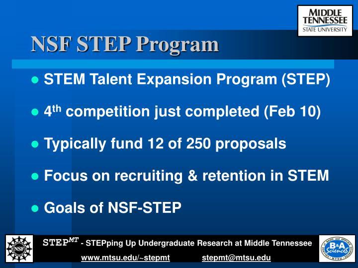 NSF STEP Program