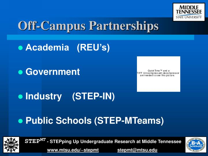 Off-Campus Partnerships
