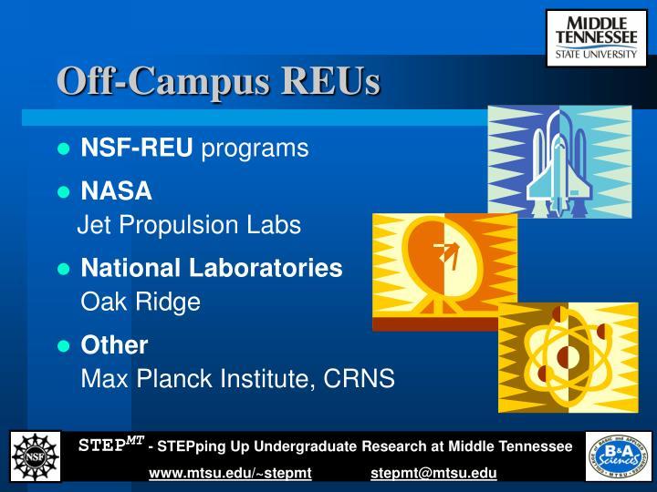 Off-Campus REUs