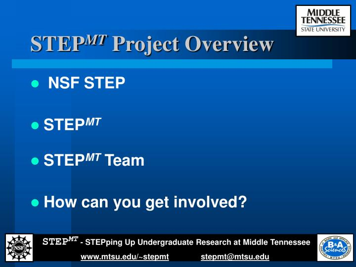 Step mt project overview