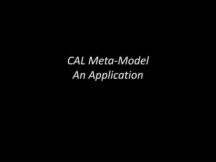 cal meta model an application n.