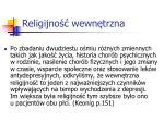 religijno wewn trzna