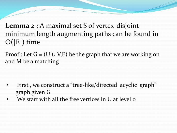 Lemma 2 :