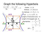 graph the following hyperbola18