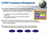 c tpat compliance management