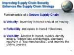 improving supply chain security enhances the supply chain strategy