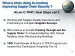 what is alcon doing to continue improving supply chain security1