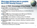 what steps did alcon take to complete the c tpat security process