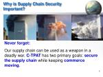 why is supply chain security important