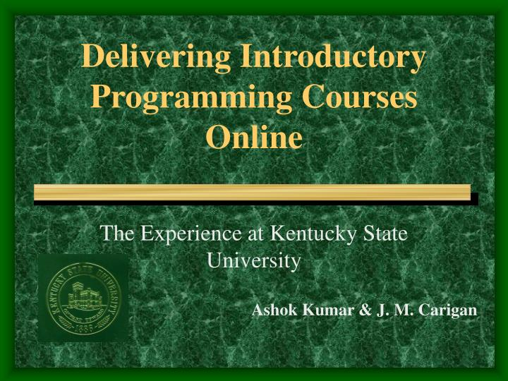 delivering introductory programming courses online n.