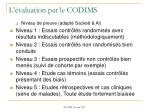 l valuation par le codims2