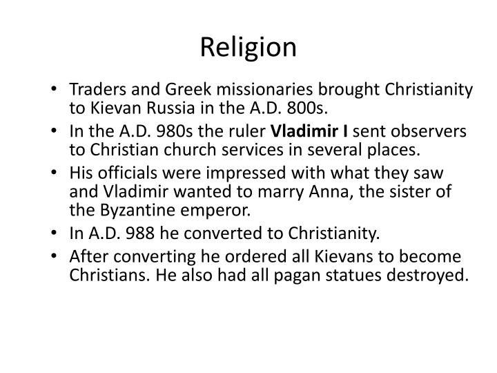 how did vladimirs conversion to christianity affect kiev