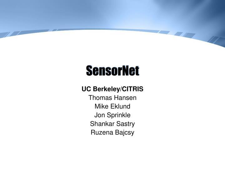 SensorNet