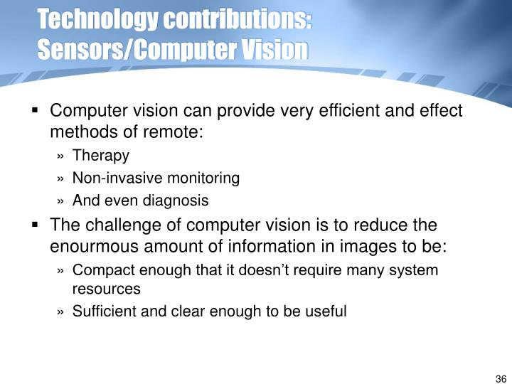 Technology contributions: