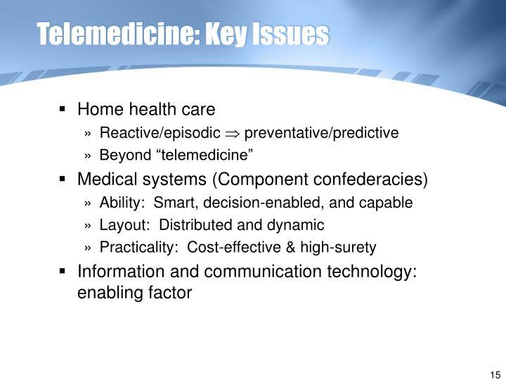 Telemedicine: Key Issues