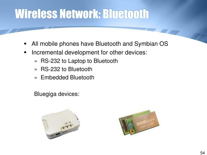 Wireless Network: Bluetooth