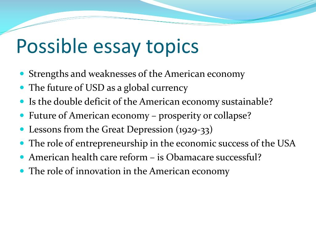 great depression essay topics