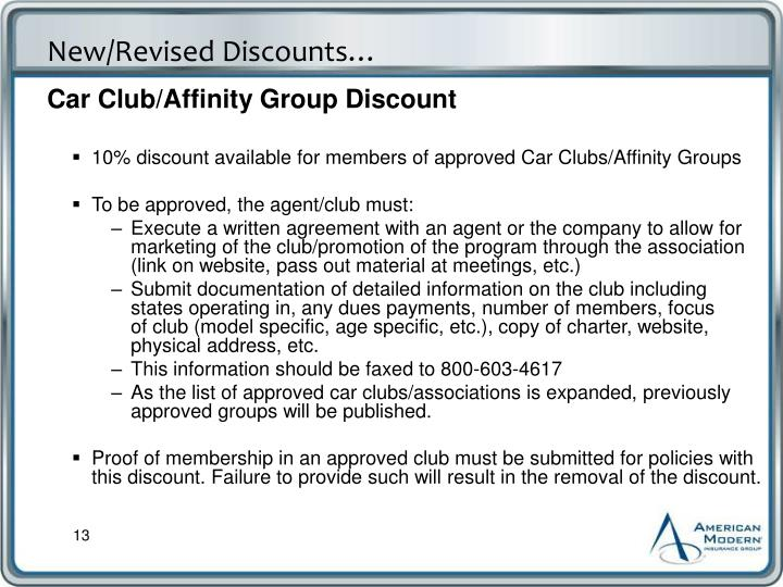 Car Club/Affinity Group Discount