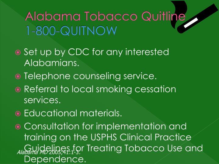Alabama Tobacco Quitline
