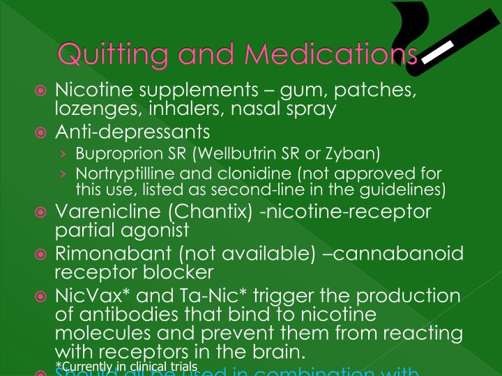 Quitting and Medications