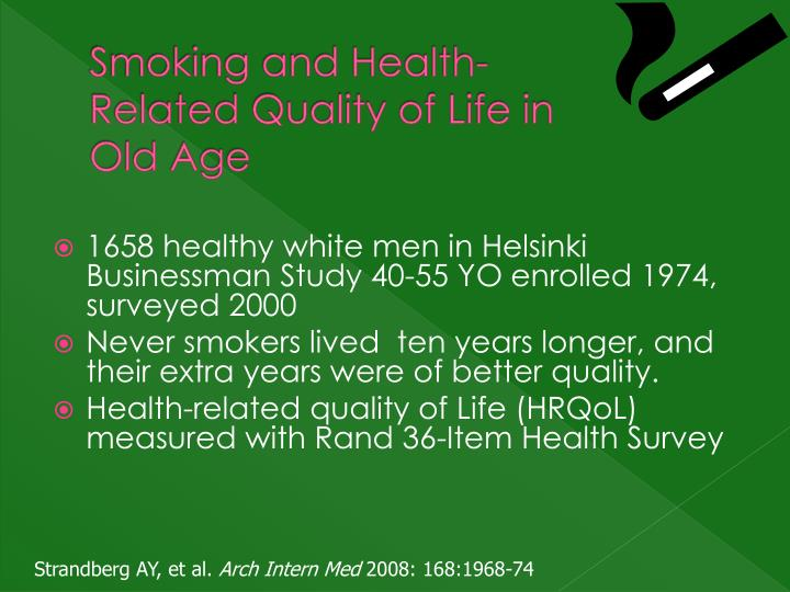 Smoking and Health-Related Quality of Life in Old Age
