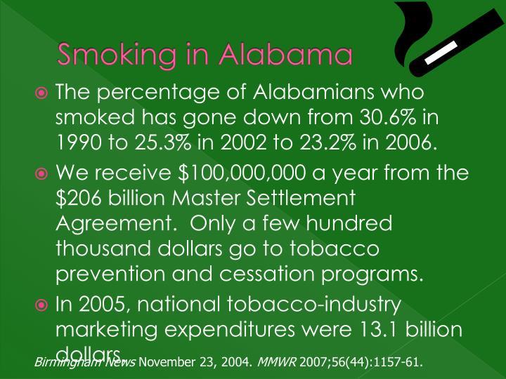 Smoking in Alabama