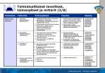 toimialueittaiset tavoitteet toimenpiteet ja mittarit 2 8