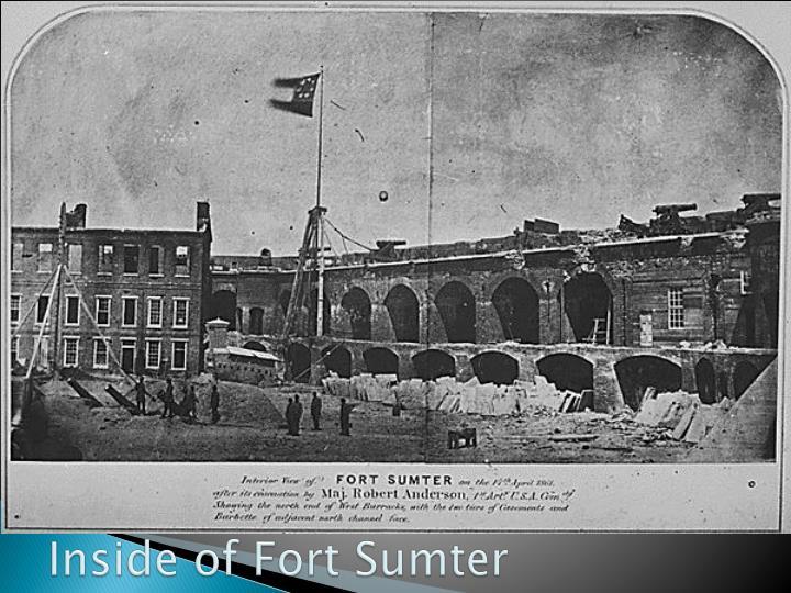 Inside of Fort Sumter