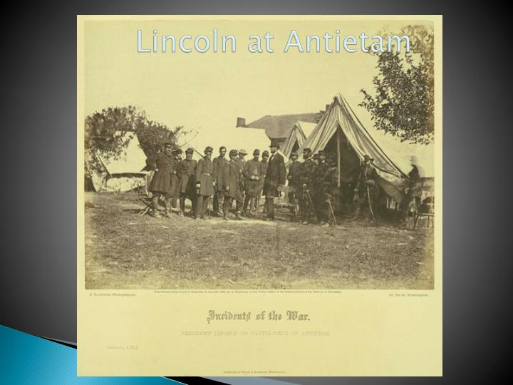 Lincoln at Antietam