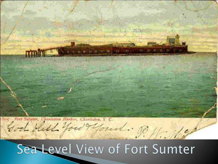 Sea Level View of Fort Sumter