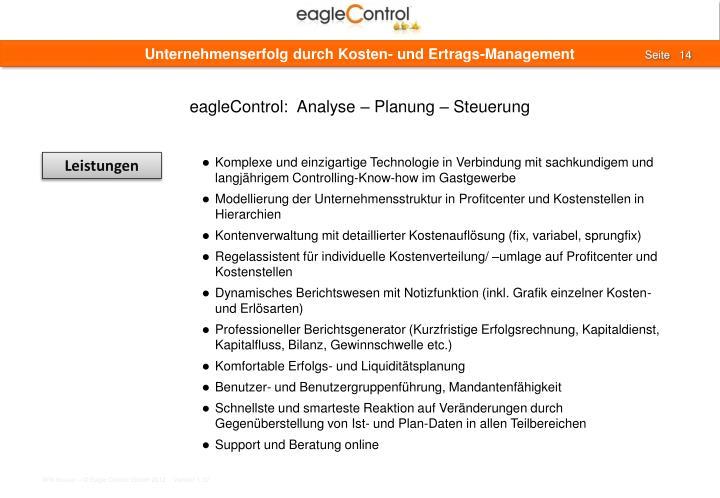 Unternehmenserfolg durch Kosten- und Ertrags-Management