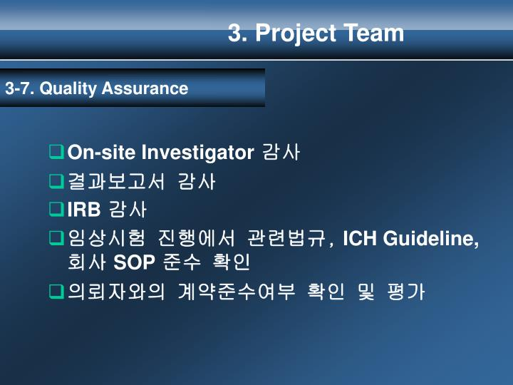 3. Project Team