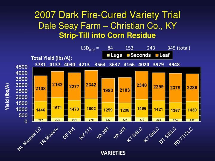 2007 Dark Fire-Cured Variety Trial