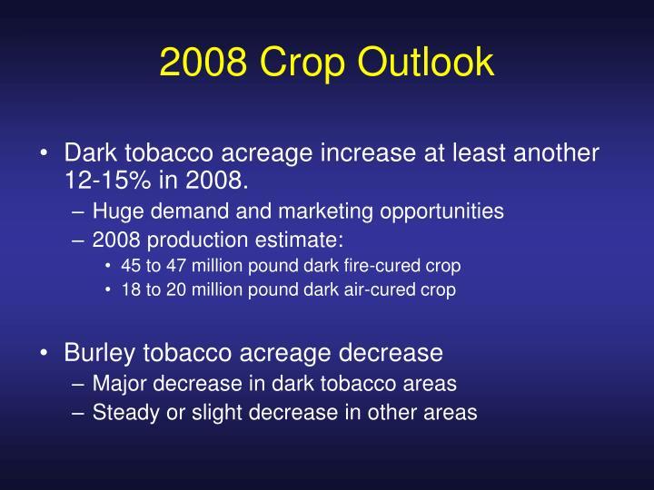 2008 Crop Outlook
