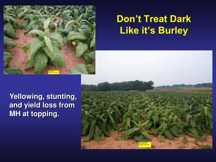 Don't Treat Dark