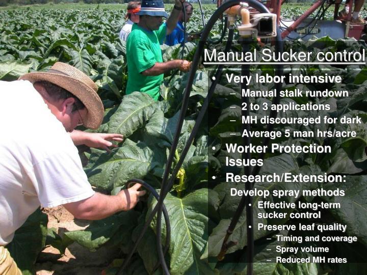 Manual Sucker control